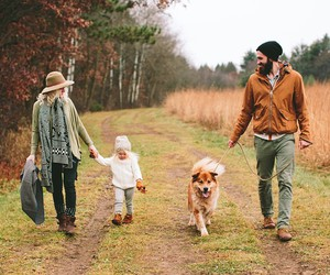 family, dog, and couple image