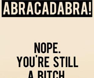 bitch, abracadabra, and magic image