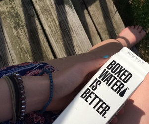 boxed water, grunge, and hipster image