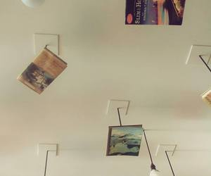 books, bulbs, and ceiling image