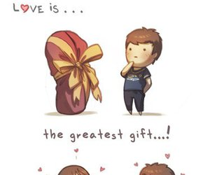 love, gift, and boy image