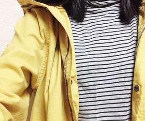 yellow, jacket, and stripes image