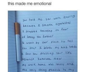 cigarette, quotes, and sad image