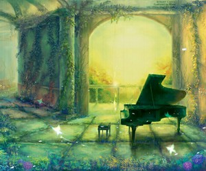 piano, anime, and beautiful image