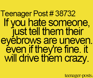 eyebrows, funny, and teenager post image