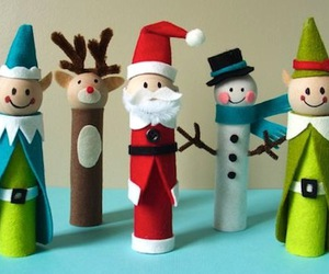 children, christmas, and crafts image