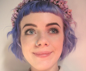 blue eyes, girl, and hipster image