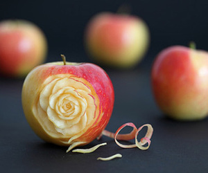 apple, rose, and art image