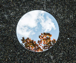 mirror, nature, and sky image