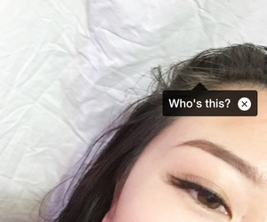 eyebrows, grunge, and pale image
