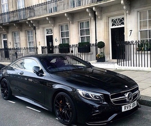 car, black, and mercedes benz image