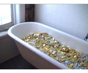 bathtub, claw, and gold image