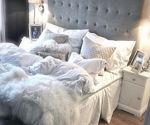 bed, comfy, and decor image