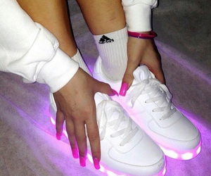 adidas, lights, and lovely image