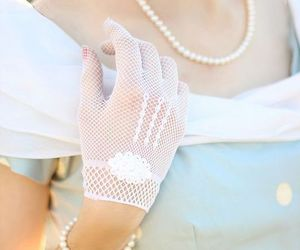 beautiful, glove, and lace image