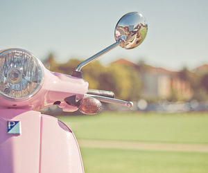pink, scooter, and vintage image