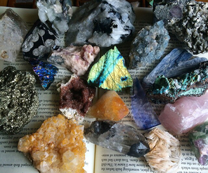 crystal, indie, and minerals image