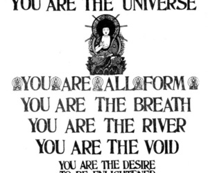 quote, universe, and Buddha image