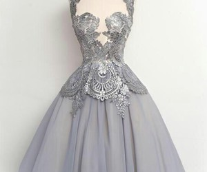 dress, lace, and Prom image