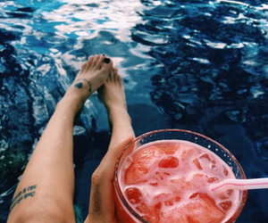 drink, summer, and tattoo image