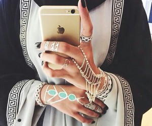 iphone, hijab, and nails image