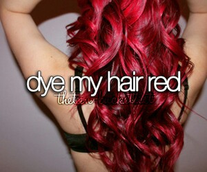 hair, red, and dye image