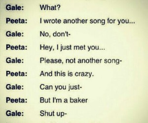 gale and peeta and song about katniss image