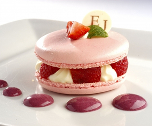 macaroons, strawberry, and food image