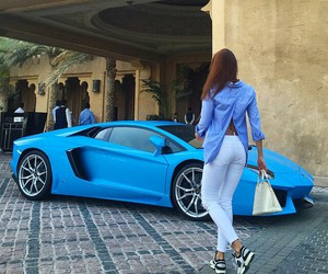 car, blue, and luxury image