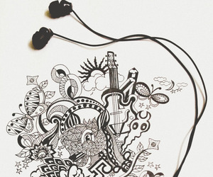 doodle, music, and love image