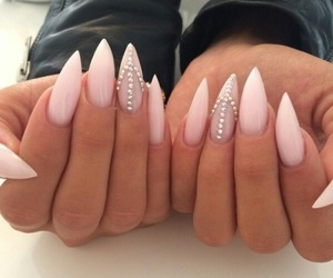 beauty, nails, and brunette image