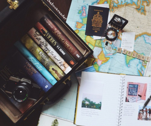 book, map, and travel image