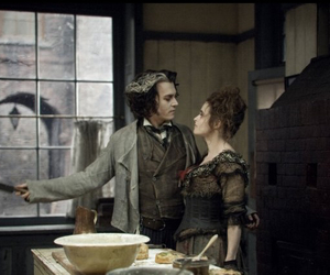 sweeney todd, helena bonham carter, and johnny depp image