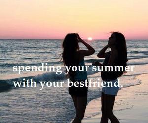 best friends, summer, and friendship image