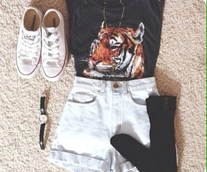 outfit, fashion, and tiger image
