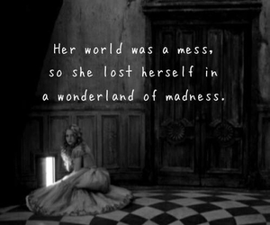 quotes, alice in wonderland, and madness image