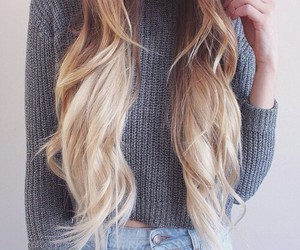 hair, blonde, and style image