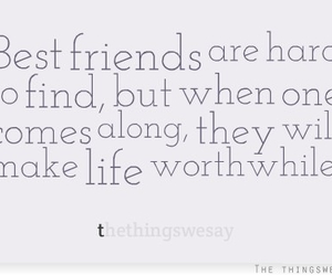 best friends, friend quotes, and friends are hard to find image