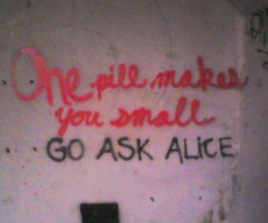 alice, drugs, and pills image