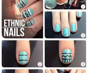nails, diy, and ethnic image