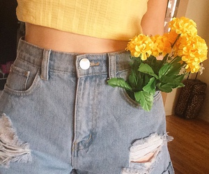 yellow, flowers, and aesthetic image
