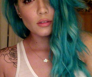 halsey, badlands, and blue hair image