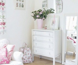 bedroom, white, and decoration image