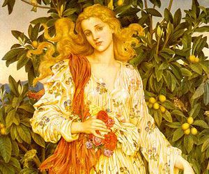 evelyn de morgan, painting, and woman image