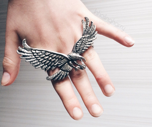 alternative, ring, and silver image