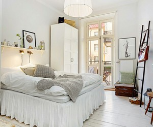 bedroom, bright, and comfy image