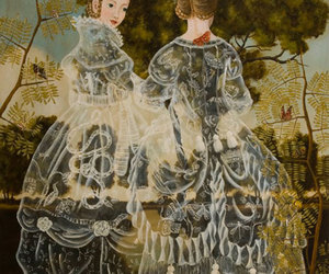 art, girls, and gowns image