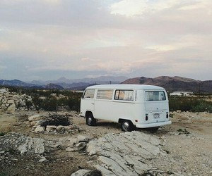 travel, van, and nature image