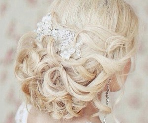 hair, wedding, and blonde image