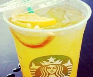 starbucks, yellow, and drink image